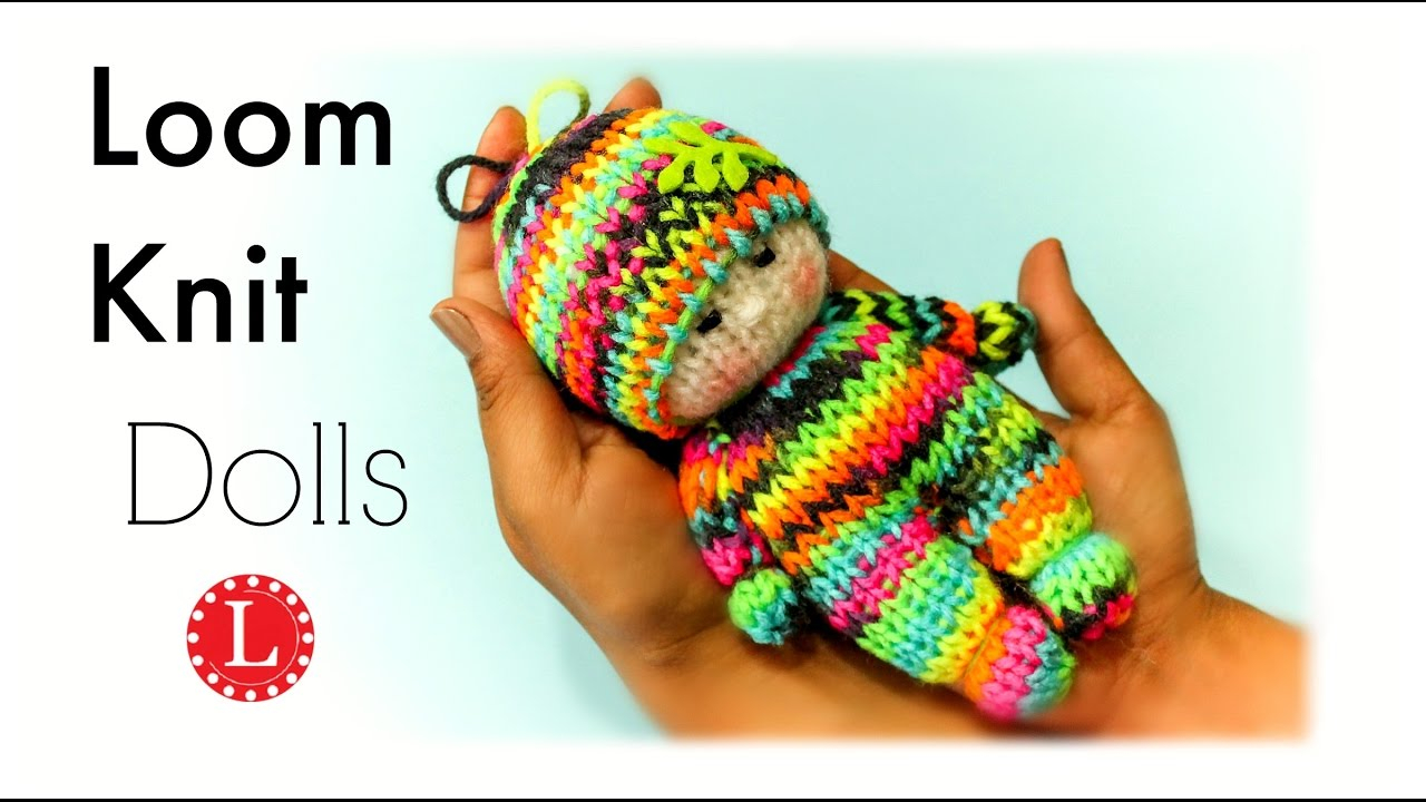 Free Knitting Patterns For Dolls Hats Loom Knitting Tiny Dolls Toys Round Loom Loomahat Telar Tricotin