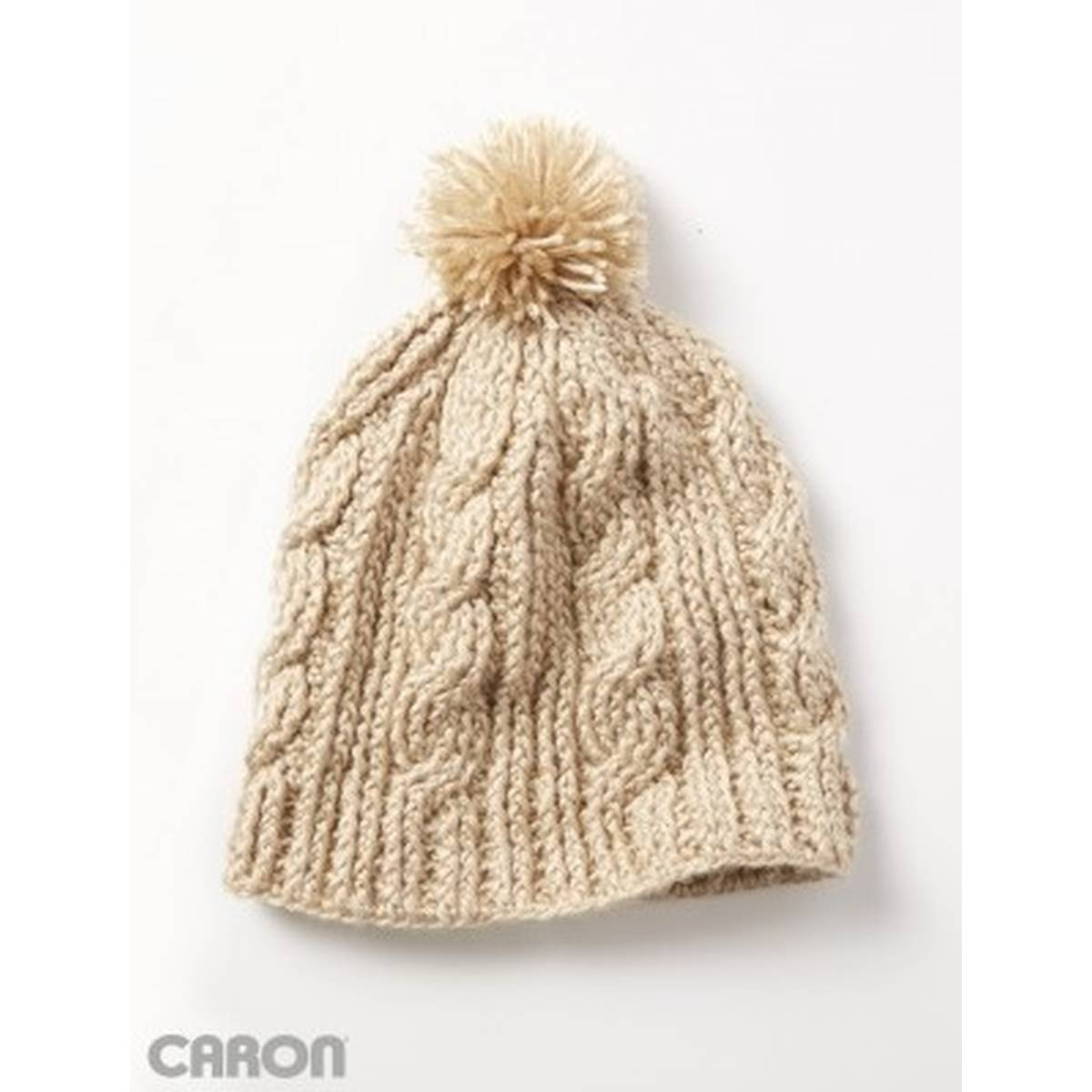 Free Knitting Patterns For Hats Uk Free Pattern Caron Cable Twist Hat Hobcraft