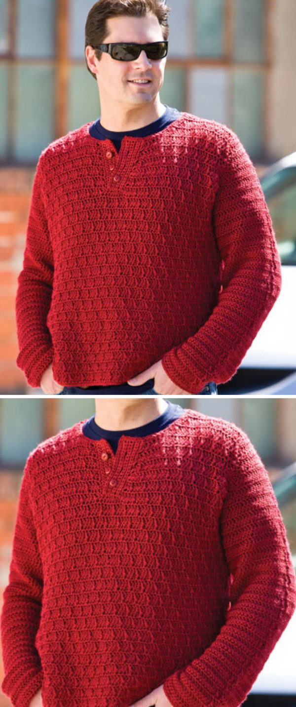 Free Knitting Patterns For Men's Sweaters 15 Crochet Men Sweater Patterns 2019