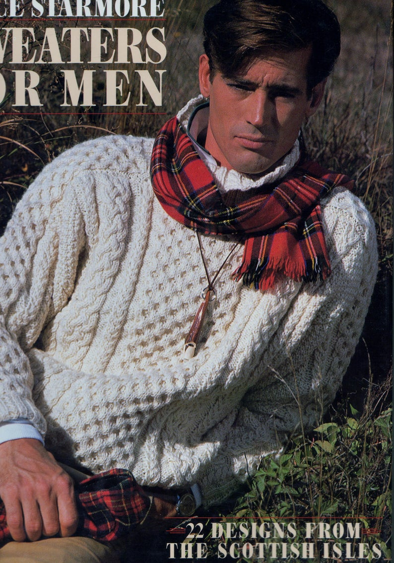 Free Knitting Patterns For Men's Sweaters Alice Starmore Sweaters For Men Aran Sweater 22 Designs Knitting Pattern Scottish Isles Book Very Good Condition Free Shipping Canada Us