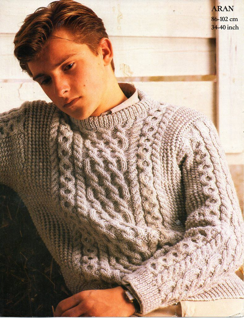 Free Knitting Patterns For Men's Sweaters Vintage Threadsnstitches