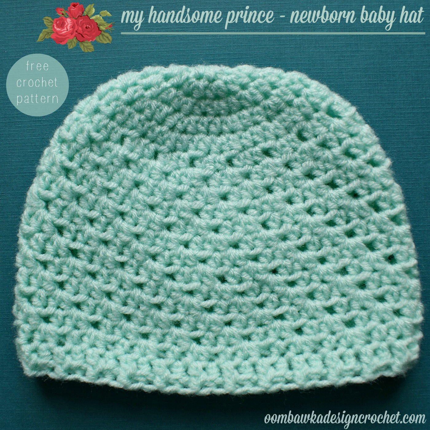 Free Knitting Patterns For Newborn Hats My Handsome Prince Newborn Ba Hat Pattern Oombawka Design Crochet