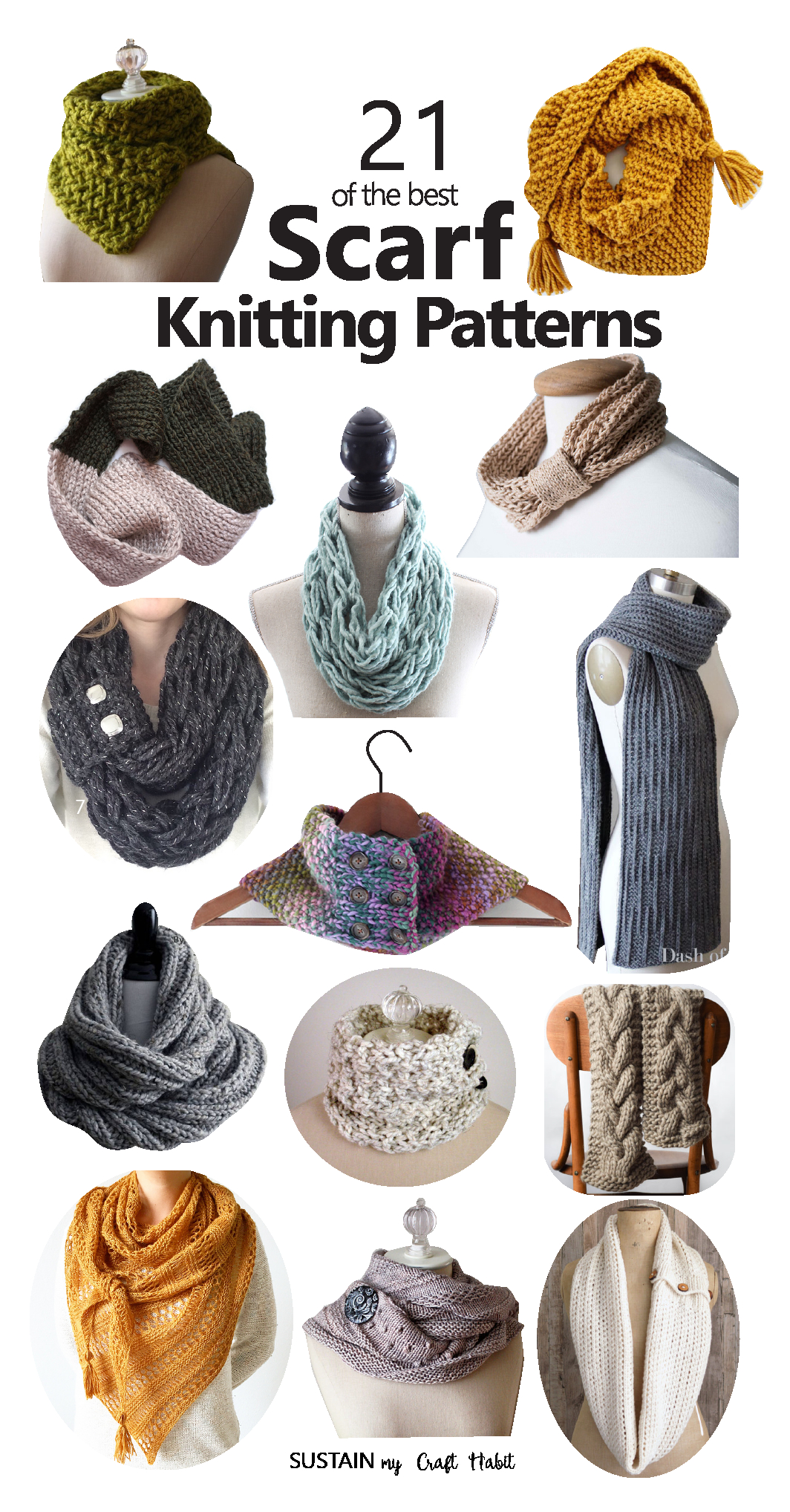 Free Knitting Patterns For Shrugs And Wraps 21 Of The Best Scarf Knitting Patterns Sustain My Craft Habit