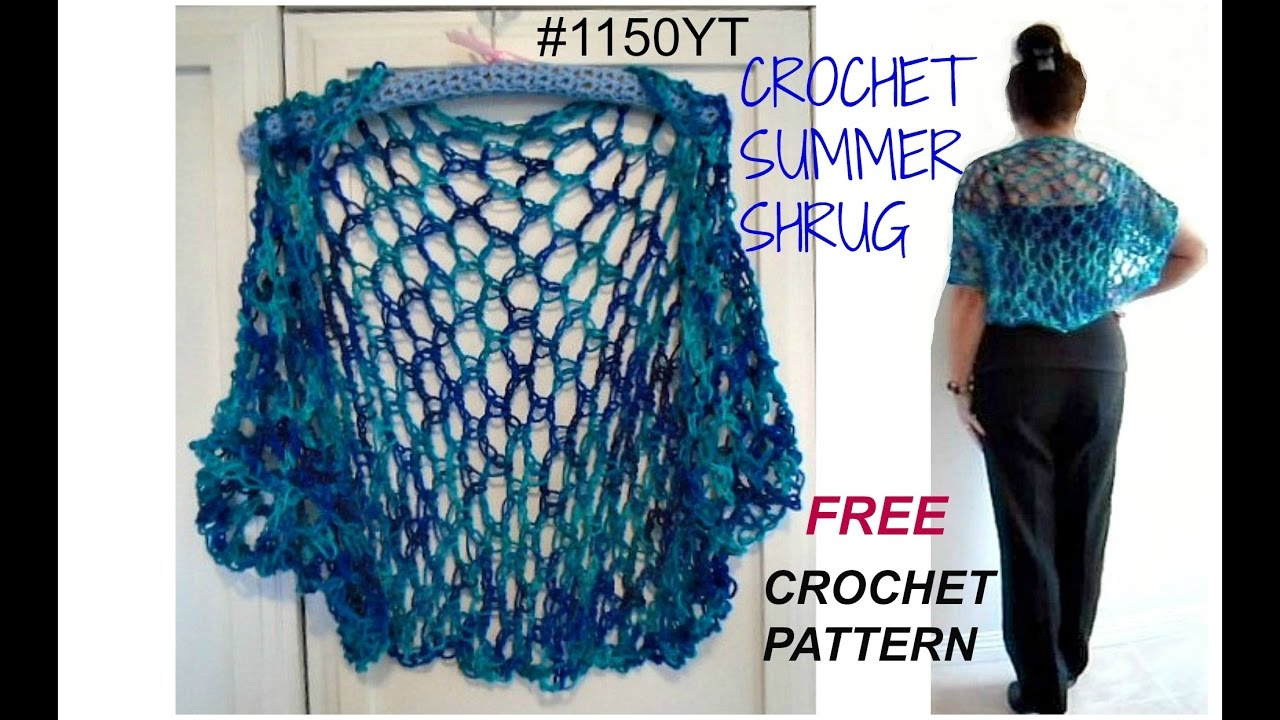 Free Knitting Patterns For Shrugs And Wraps Diy Crochet Summer Shrug Pattern Free Pattern 1150yt Small To Plus Size Sweaters And Tops