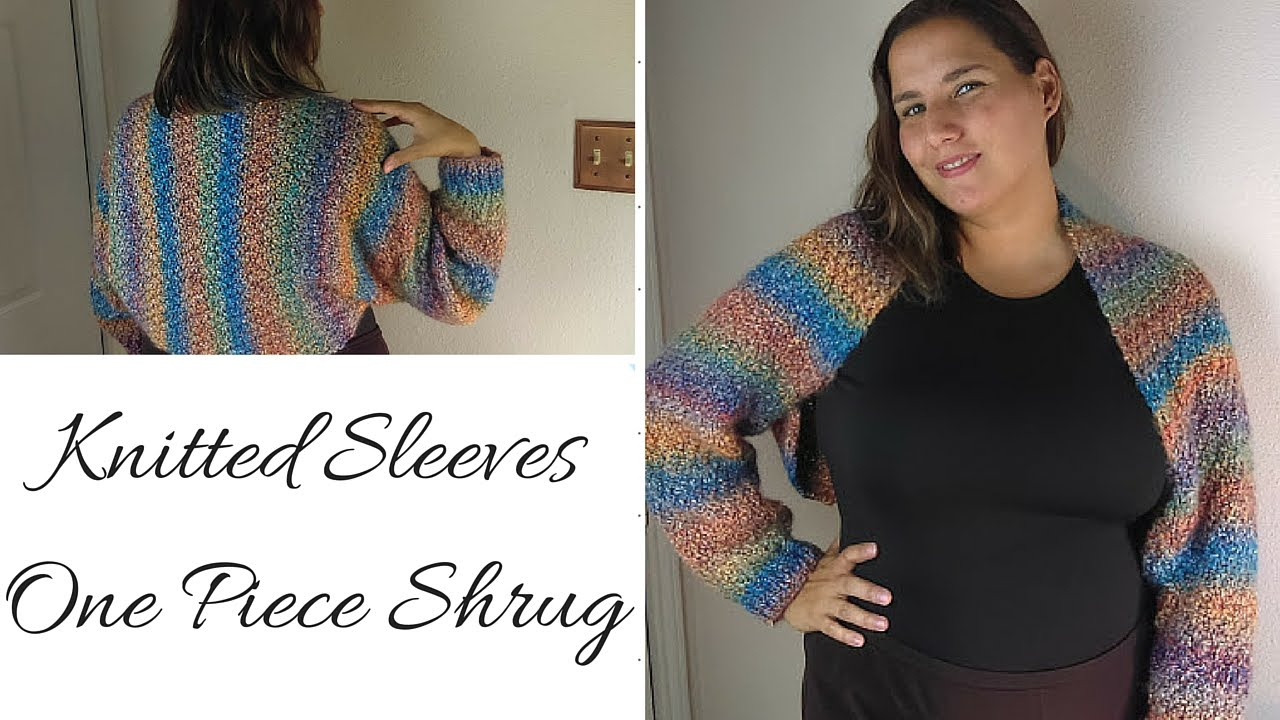 Free Knitting Patterns For Shrugs And Wraps Knitted Sleeves One Piece Shrug