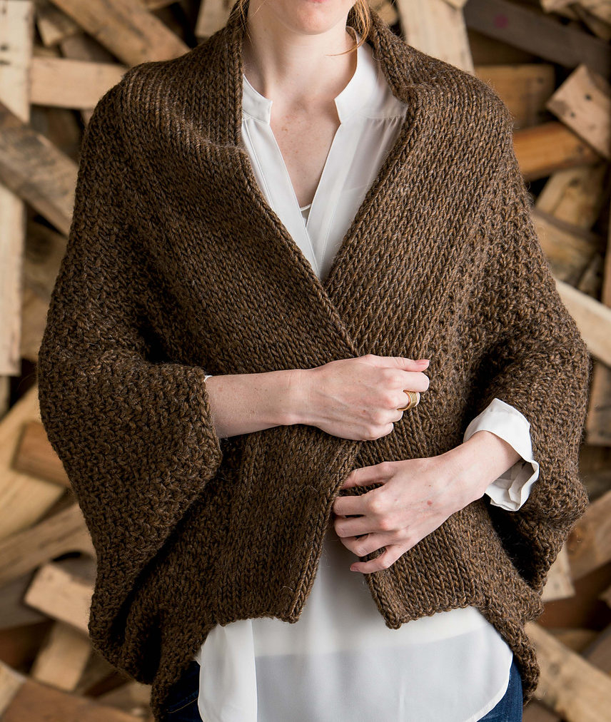 Free Knitting Patterns For Shrugs And Wraps Sweater Wrap Knitting Patterns In The Loop Knitting