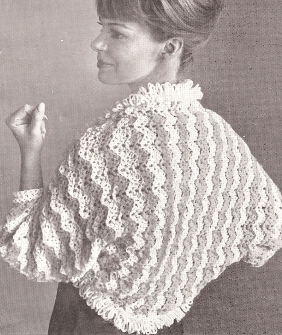 Free Knitting Patterns For Shrugs And Wraps Vintage Bed Jacket Shrug Sweater Wrap Crochet Pattern On Popscreen