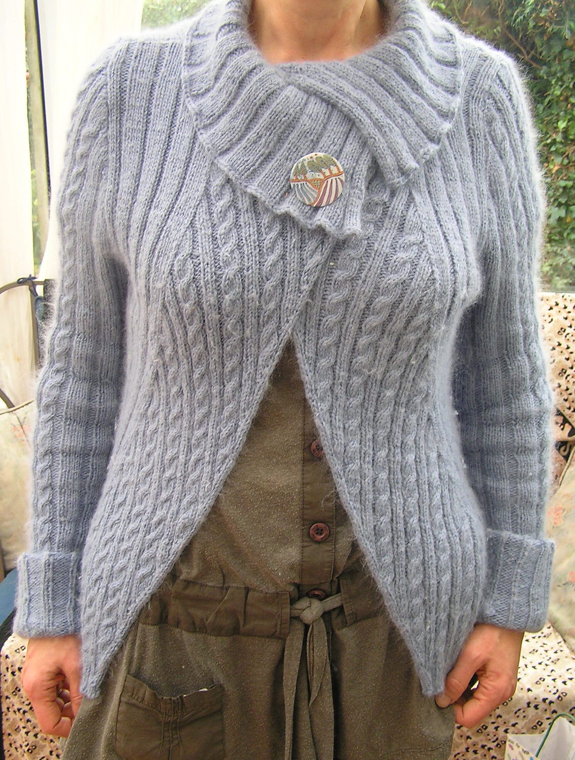 Free Knitting Patterns For Shrugs And Wraps Wrap Cardigan Knitting Patterns In The Loop Knitting