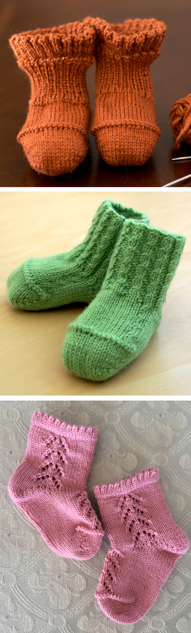 Free Knitting Patterns For Socks On Four Needles Ba Booties Knitting Patterns In The Loop Knitting