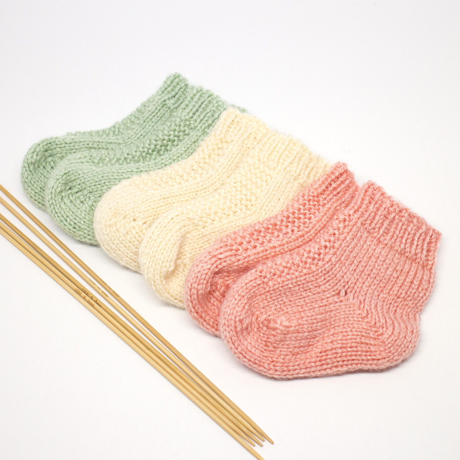 Free Knitting Patterns For Socks On Four Needles Knitted Ba Socks Mhu