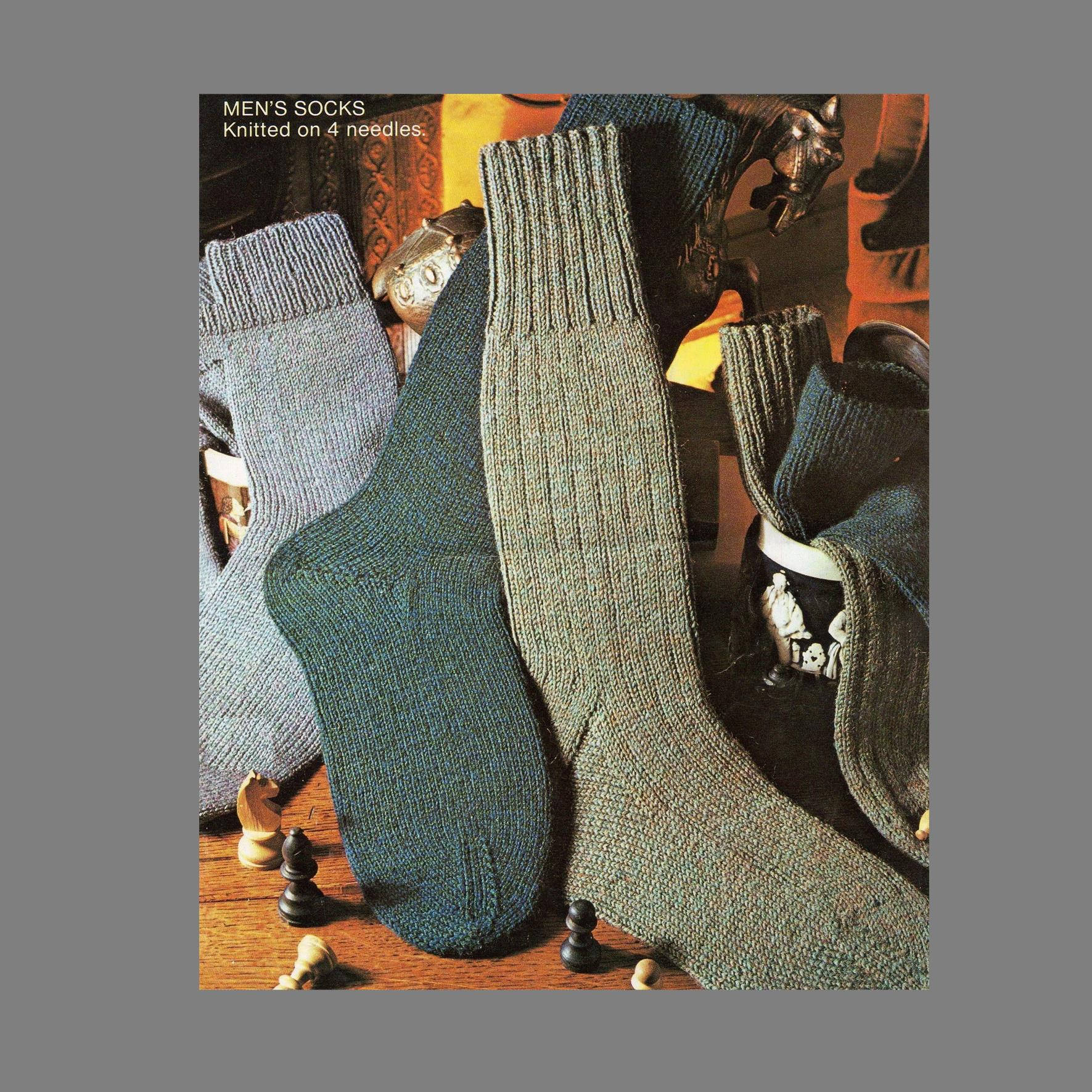 Free Knitting Patterns For Socks On Four Needles Pdf Sock Pattern 4 Ply Socks In Three Styles Using Four Needles Mens Socks Knitting Pattern Pdf Instant Download Post Free Patterns