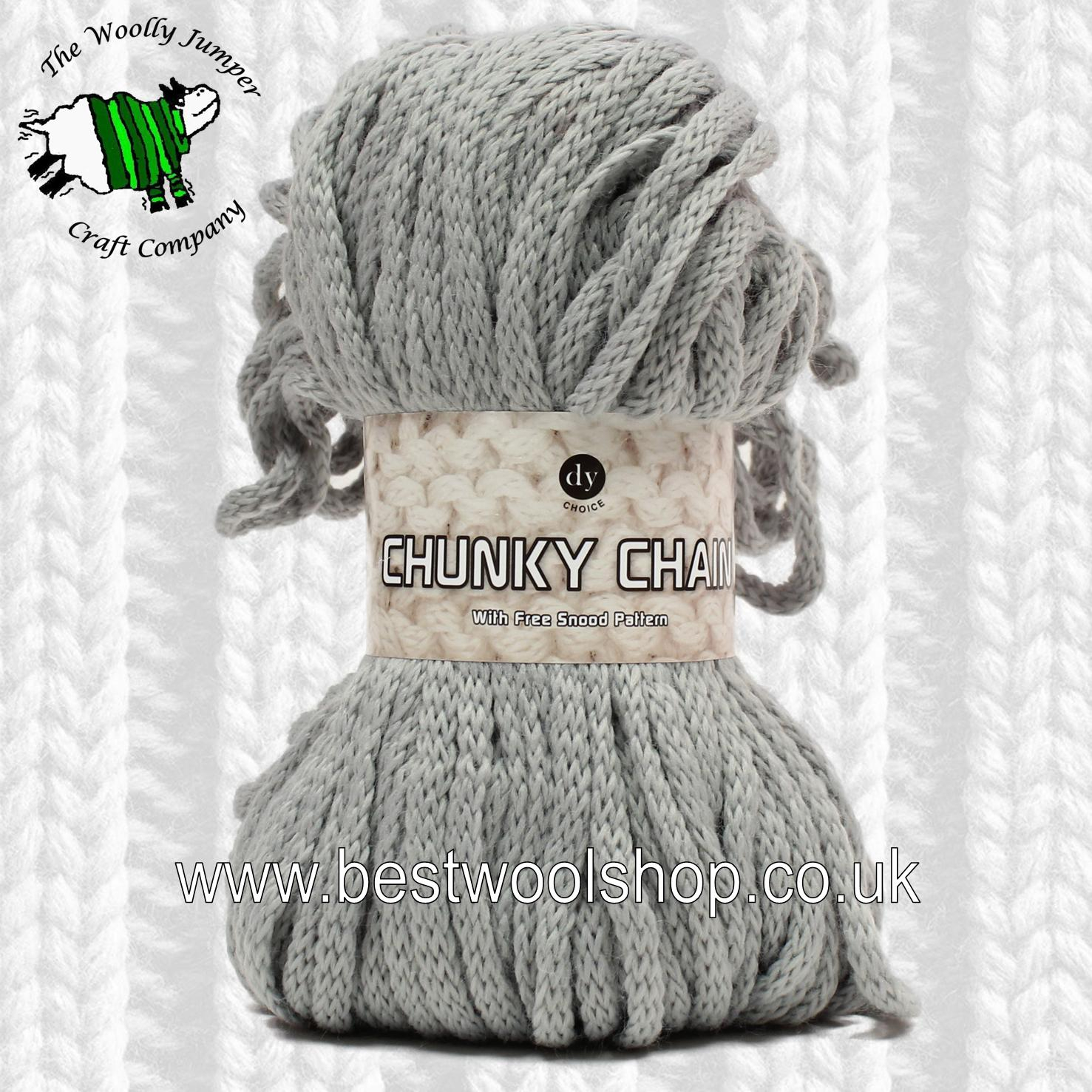Free Knitting Patterns For Super Chunky Yarn 602 Silver Dy Choice Chunky Chain Super Chunky Knitting Crochet Yarn From Designer Yarns With Free Snood Knitting Pattern