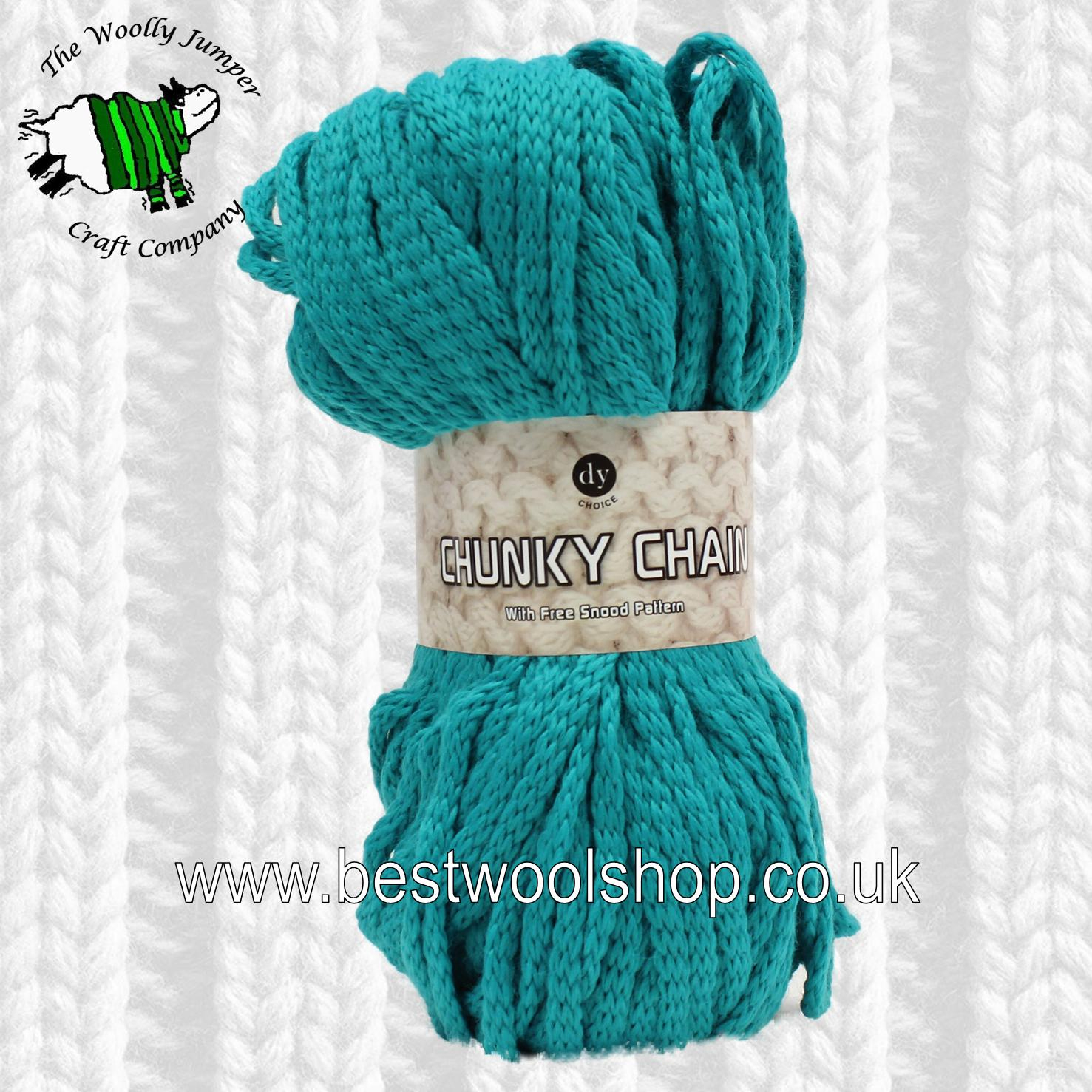 Free Knitting Patterns For Super Chunky Yarn 610 Emerald Dy Choice Chunky Chain Super Chunky Knitting Crochet Yarn From Designer Yarns With Free Snood Knitting Pattern
