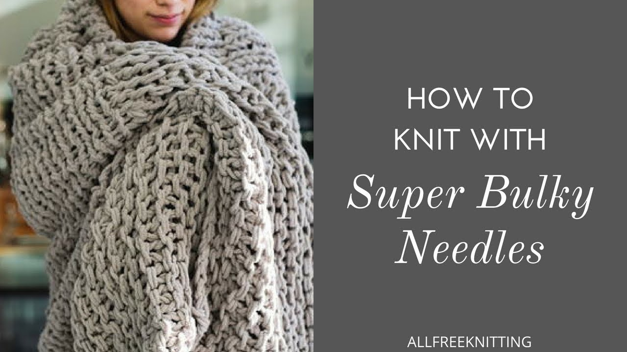 Free Knitting Patterns For Super Chunky Yarn Chunky Arm Knitted Blanket Allfreeknitting