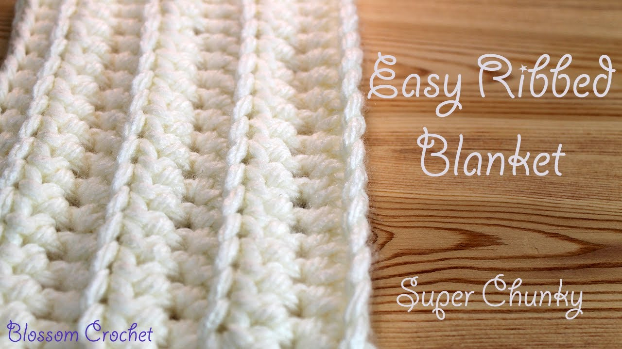 Free Knitting Patterns For Super Chunky Yarn Easiest Fastest Crochet Blanket Ribbed Ridged Super Chunky