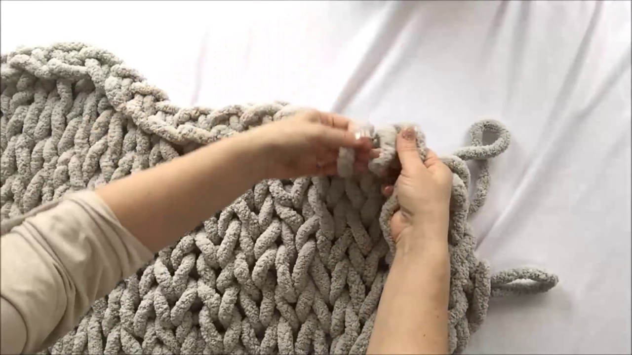 Free Knitting Patterns For Super Chunky Yarn Hand Knit Chunky Chenille Blanket 40x60 Becozi 10 Off