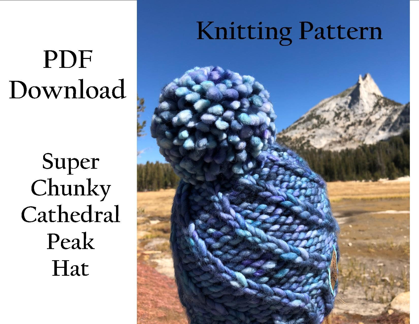 Free Knitting Patterns For Super Chunky Yarn Hat Knitting Pattern Super Chunky Cathedral Peak Hat Malabrigo Rasta Hat Pattern Easy Knitting Pattern