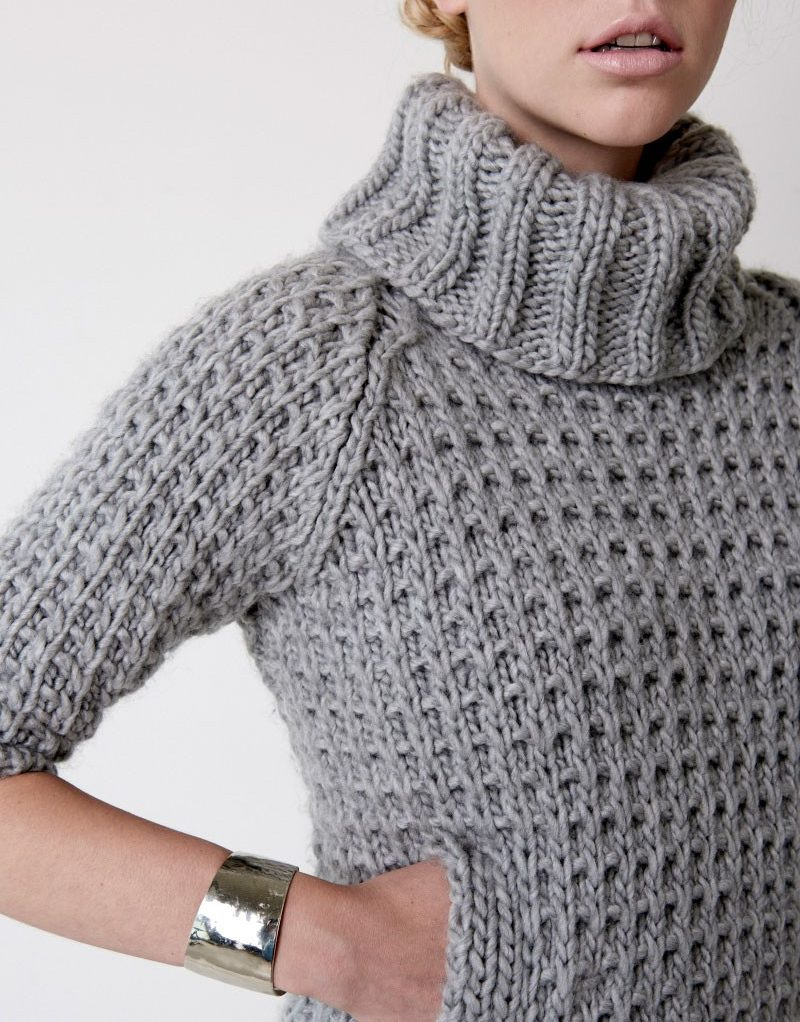 Free Knitting Patterns For Super Chunky Yarn Quick Sweater Knitting Patterns In The Loop Knitting