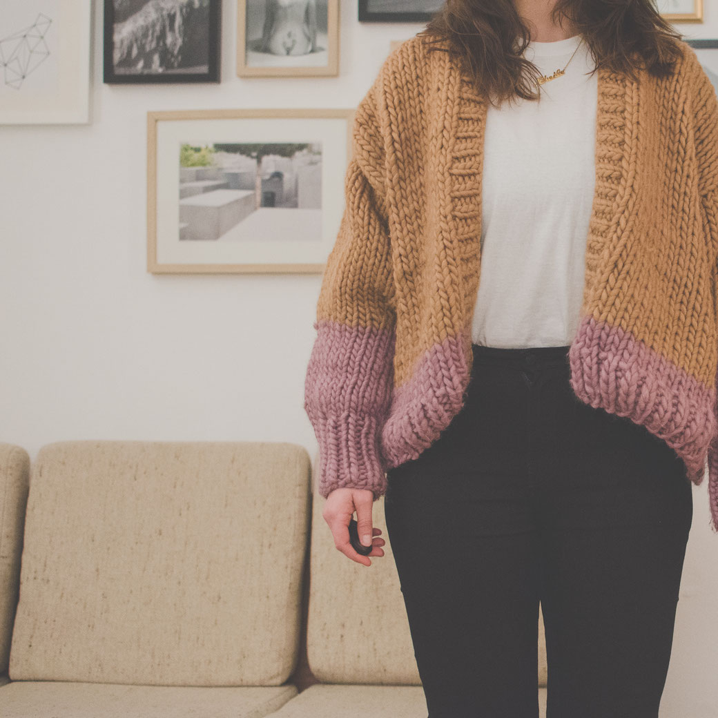 Free Knitting Patterns For Sweater Coats Free Knitting Pattern Make Your Own Chunky Cardigan Felicity Diy Blog