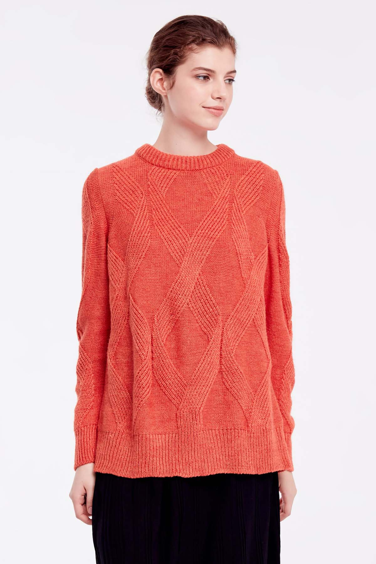 Free Knitting Patterns For Sweater Coats Orange Free Knit Sweater