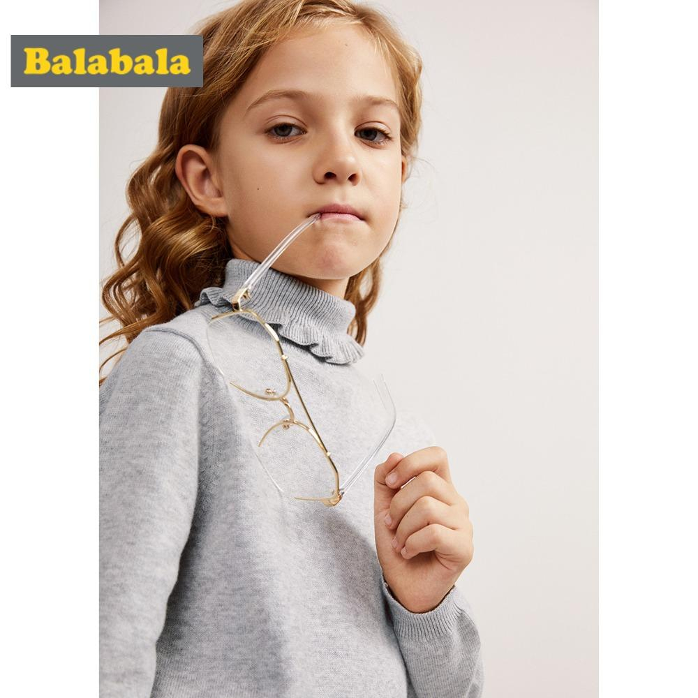 Free Knitting Patterns For Teens Balabala Girls Fine Knit Ruffled Turtleneck Jersey Sweater Dropped Shoulder Sweater With Ribbed Cuffs And Hem For Teenage Girl
