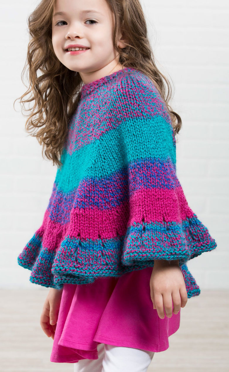 Free Knitting Patterns For Teens Ponchos For Babies And Children In The Loop Knitting