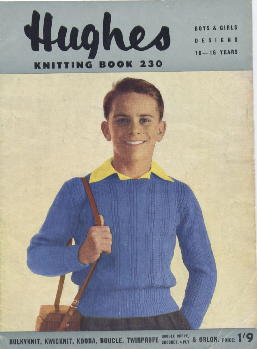 Free Knitting Patterns For Teens The Vintage Pattern Files 1950s Knitting Teenage Patterns Hughes