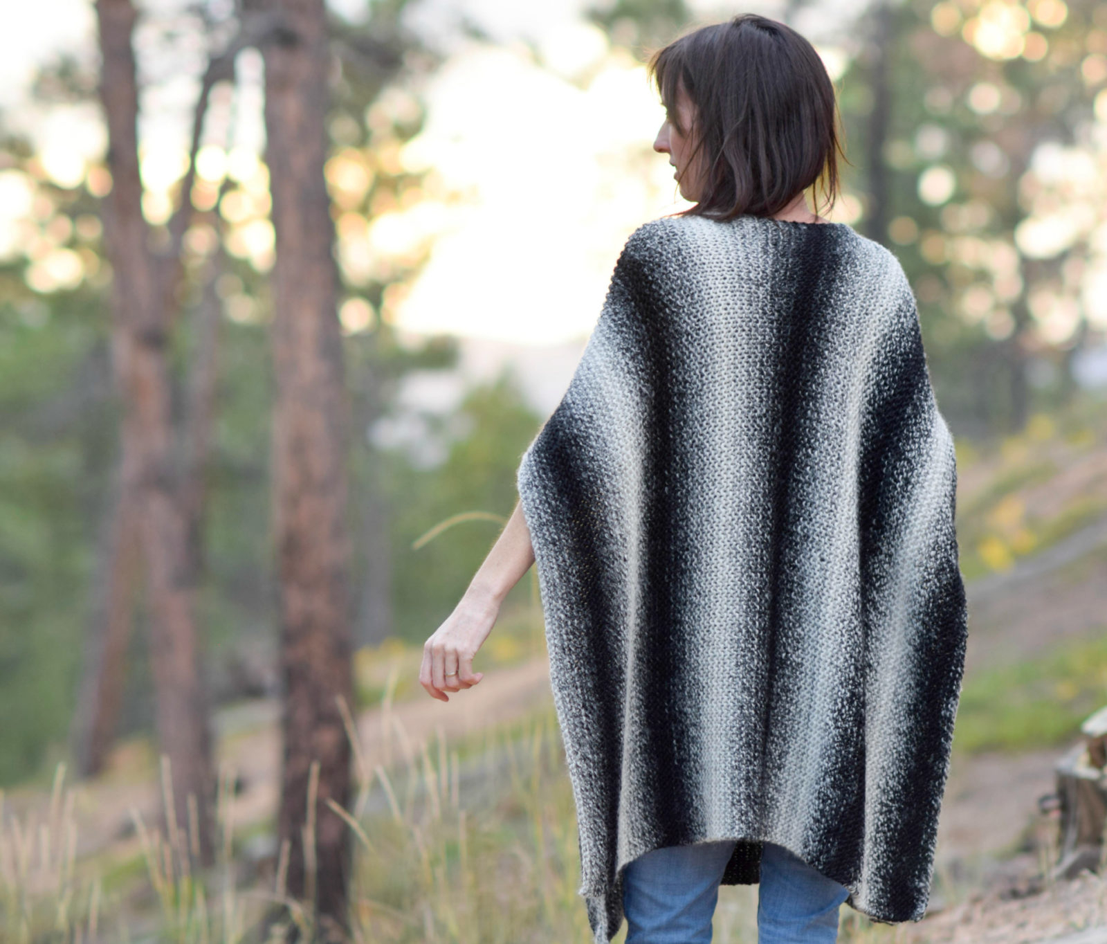Free Knitting Patterns Poncho Aspen Relaxed Knit Poncho Pattern Mama In A Stitch