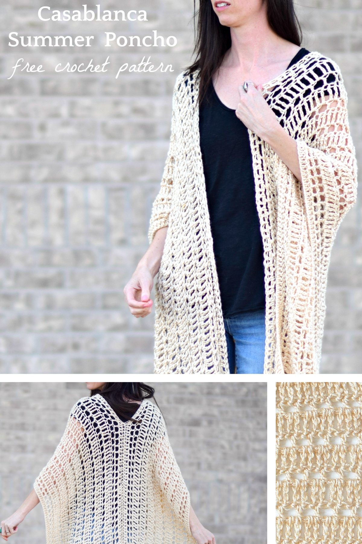 Free Knitting Patterns Poncho Casablanca Summer Poncho Crochet Pattern Mama In A Stitch
