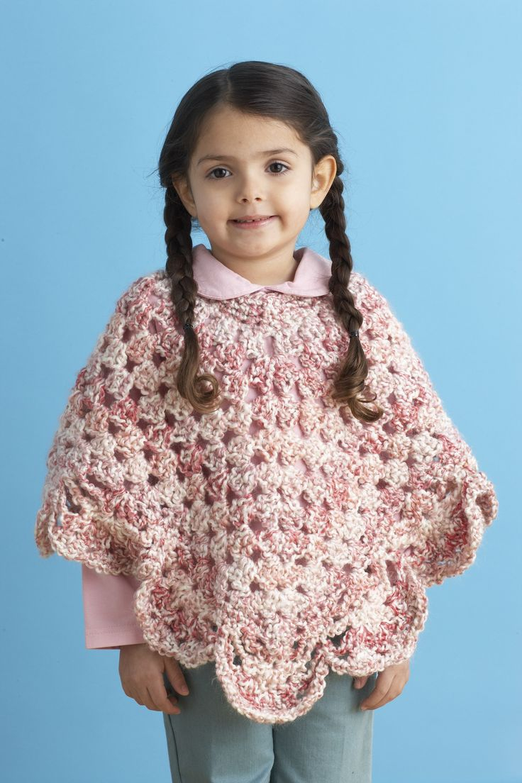 Free Knitting Patterns Poncho Knitting Patterns For Ba Lion Brand Endearing Girls Poncho Pattern