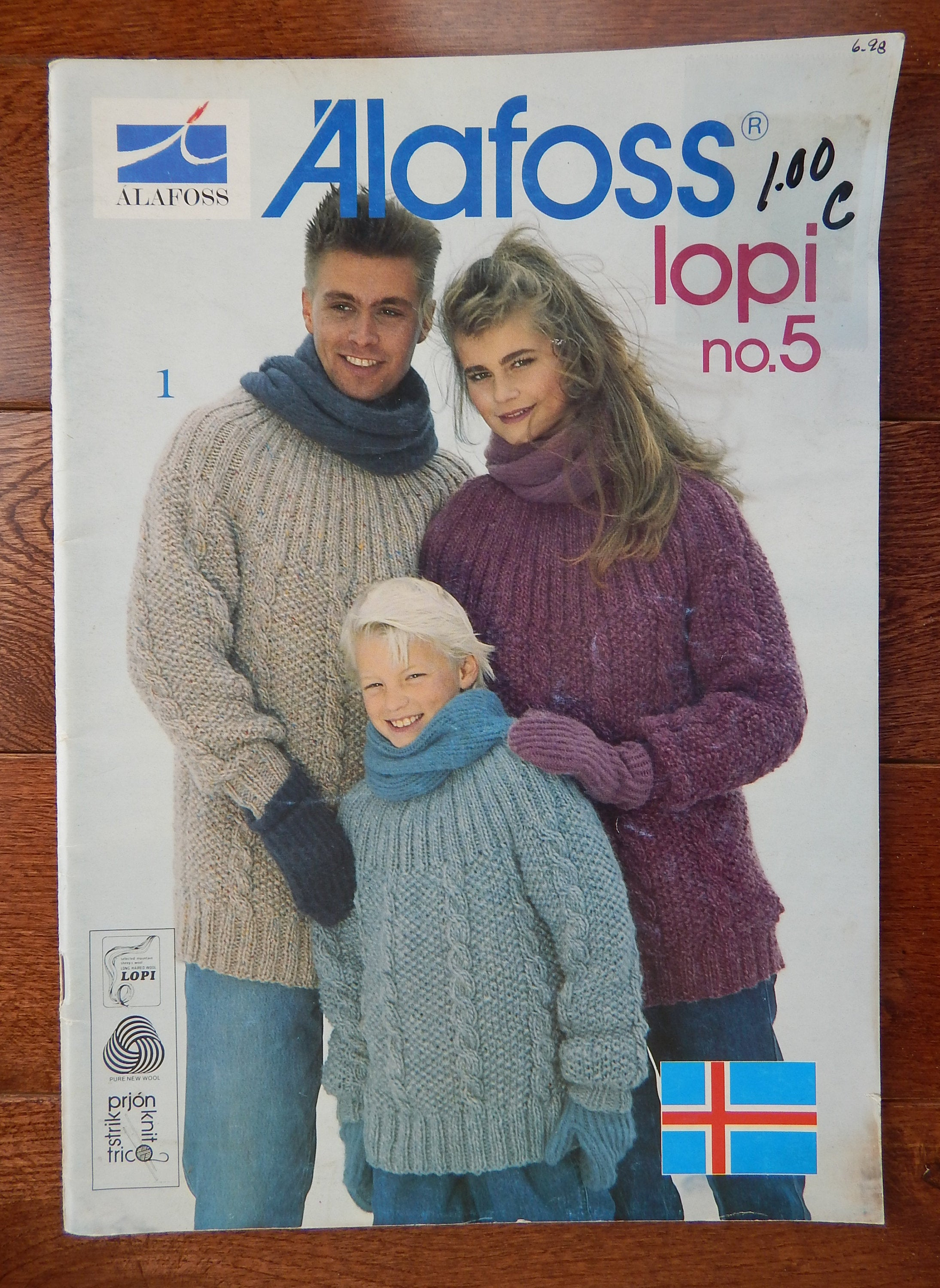 Free Lopi Knitting Patterns Alafoss Lopi No 5 Knitting Patterns Men Women Children Pullover Cardigan Sweater Vest Outerwear Sizes Vary Ski Fair Isles Cable
