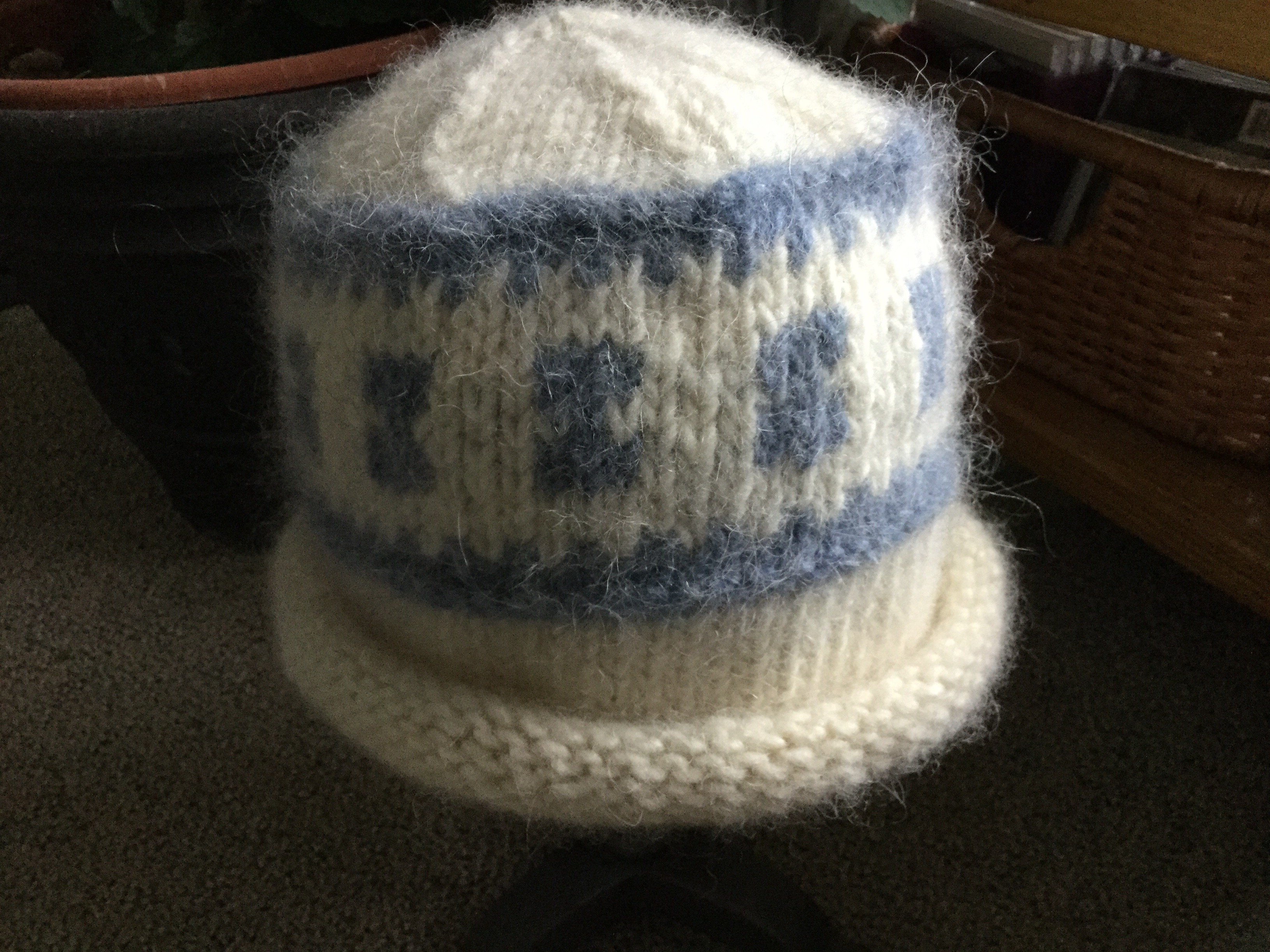 Free Lopi Knitting Patterns Free Hat Patternlopi White And Blue Felted Yet Another