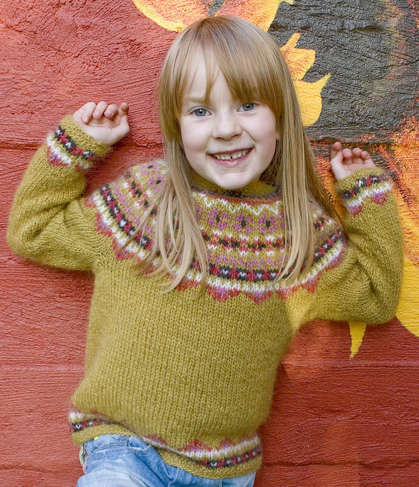Free Lopi Knitting Patterns Free Knitting Pattern Fimma Icelandic Sweater Kids Sizes 4 6