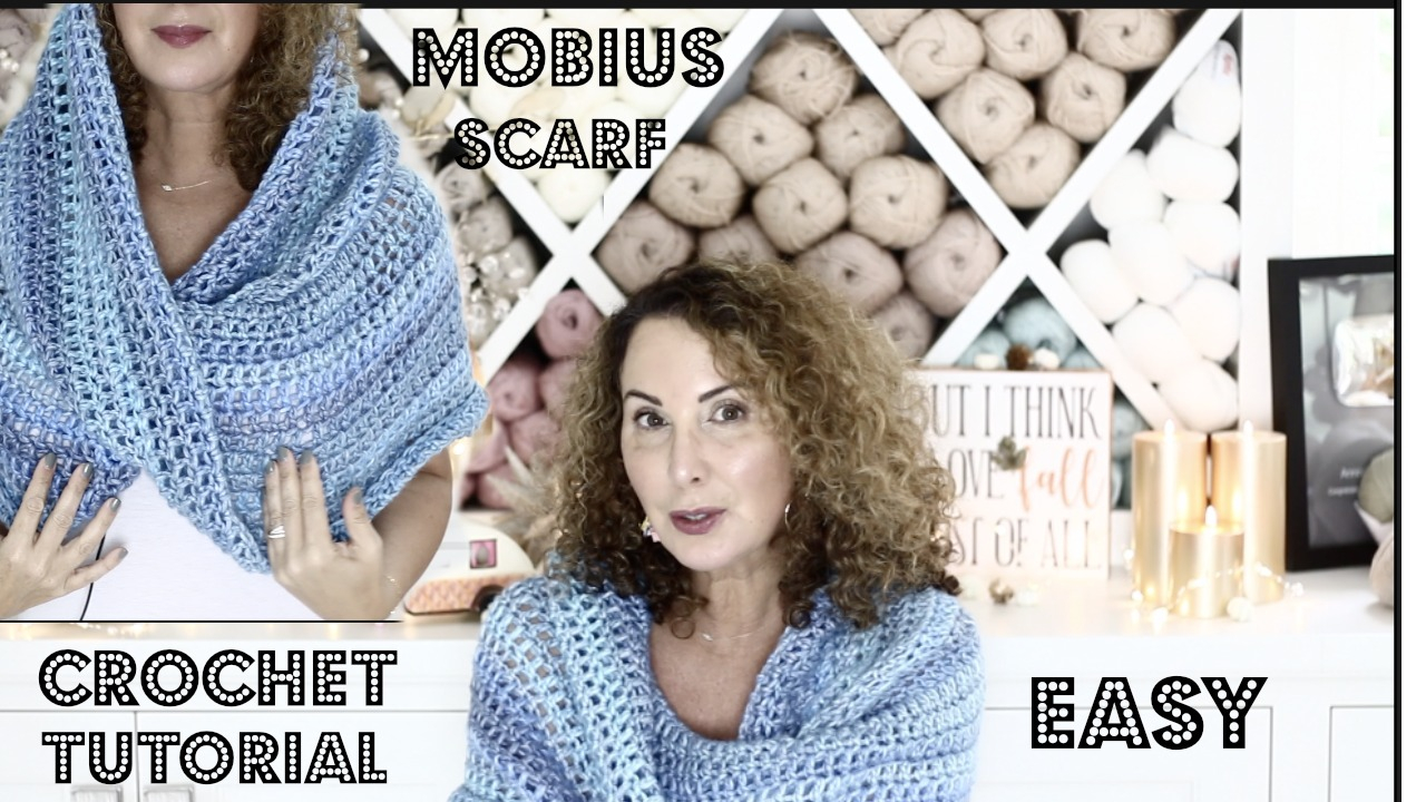 Free Mobius Scarf Knitting Pattern Annoos Crochet World Delicious Mobius Scarfheadscarf