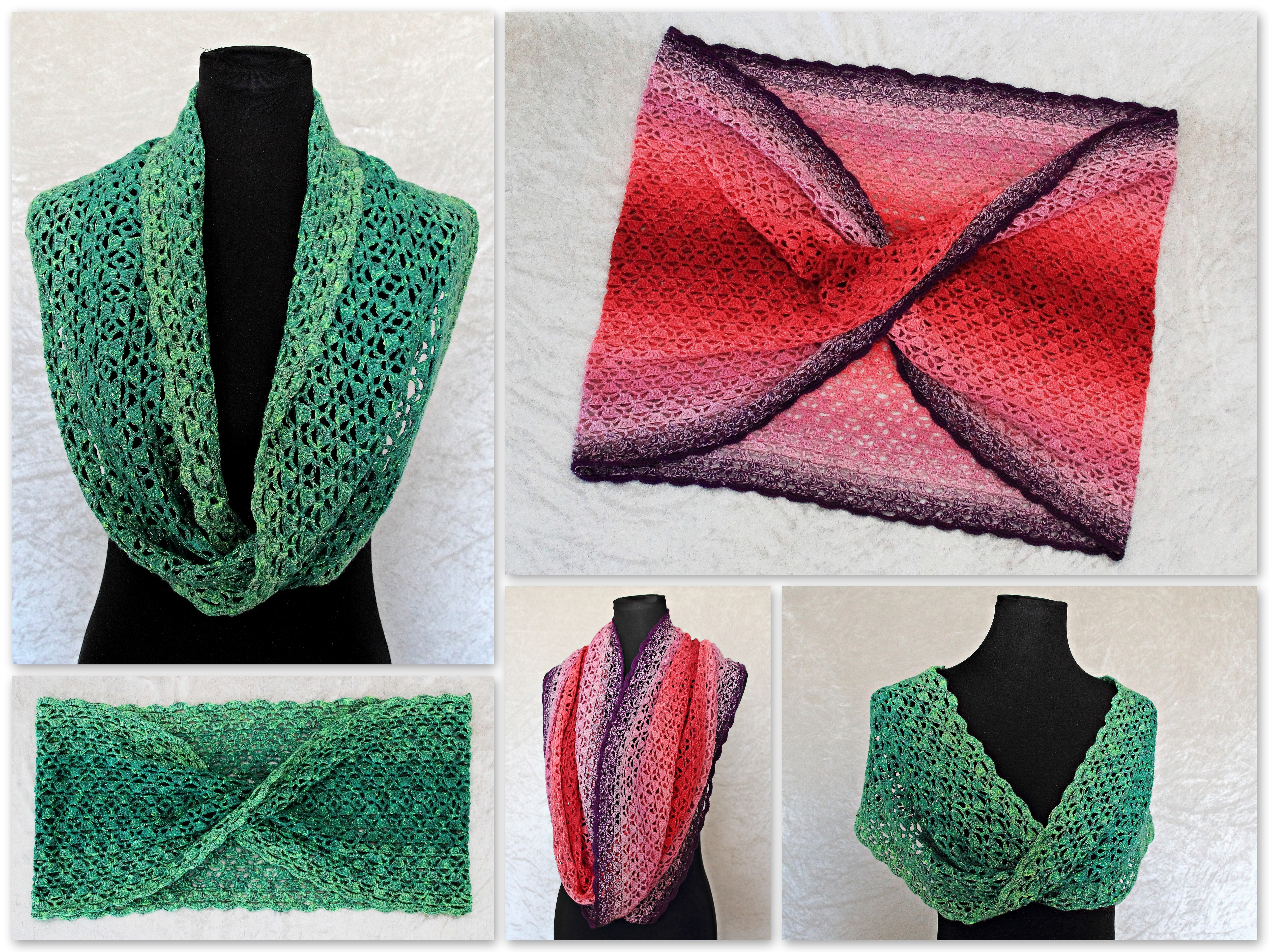 Free Mobius Scarf Knitting Pattern Crochet Pattern Cowl Infinity Scarf Moebius Scarf Stephanie