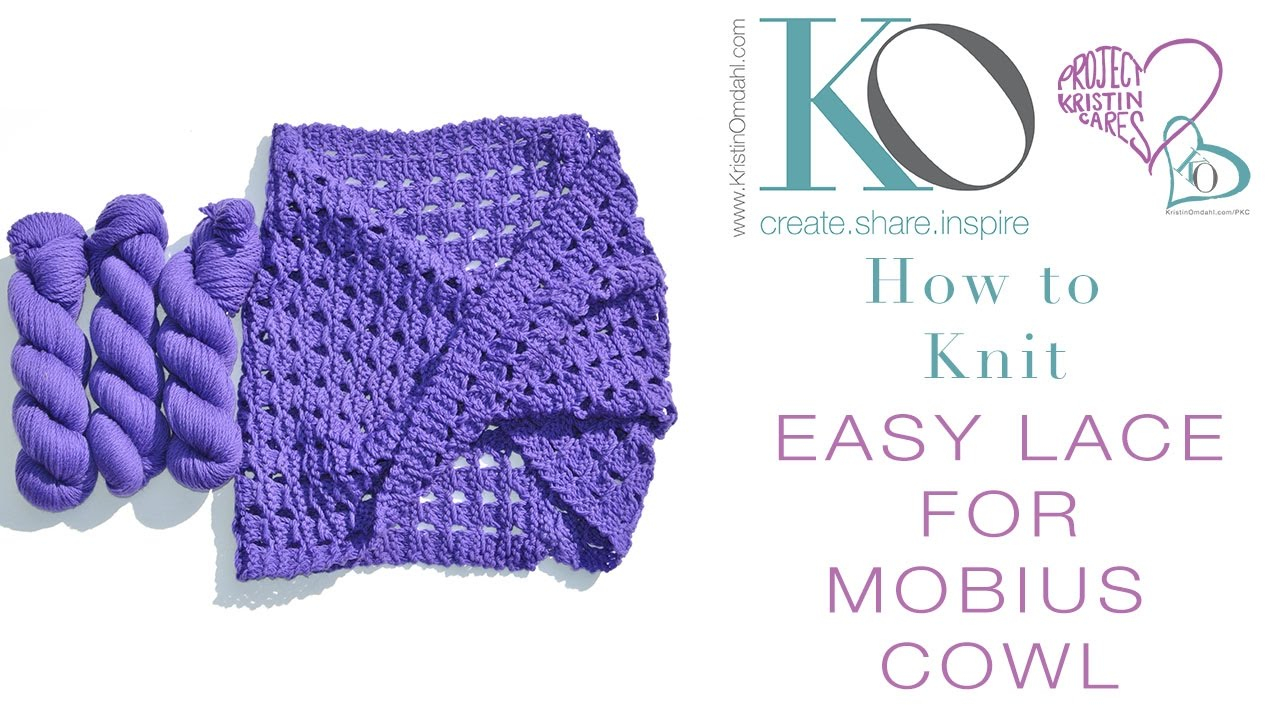 Free Mobius Scarf Knitting Pattern How To Knit Lace Mobius Cowl Worsted In Weight Merino Wool