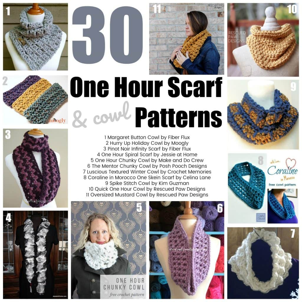 Free Mobius Scarf Knitting Pattern Quick Crochet Projects 30 One Hour Scarf Patterns Oombawka Design