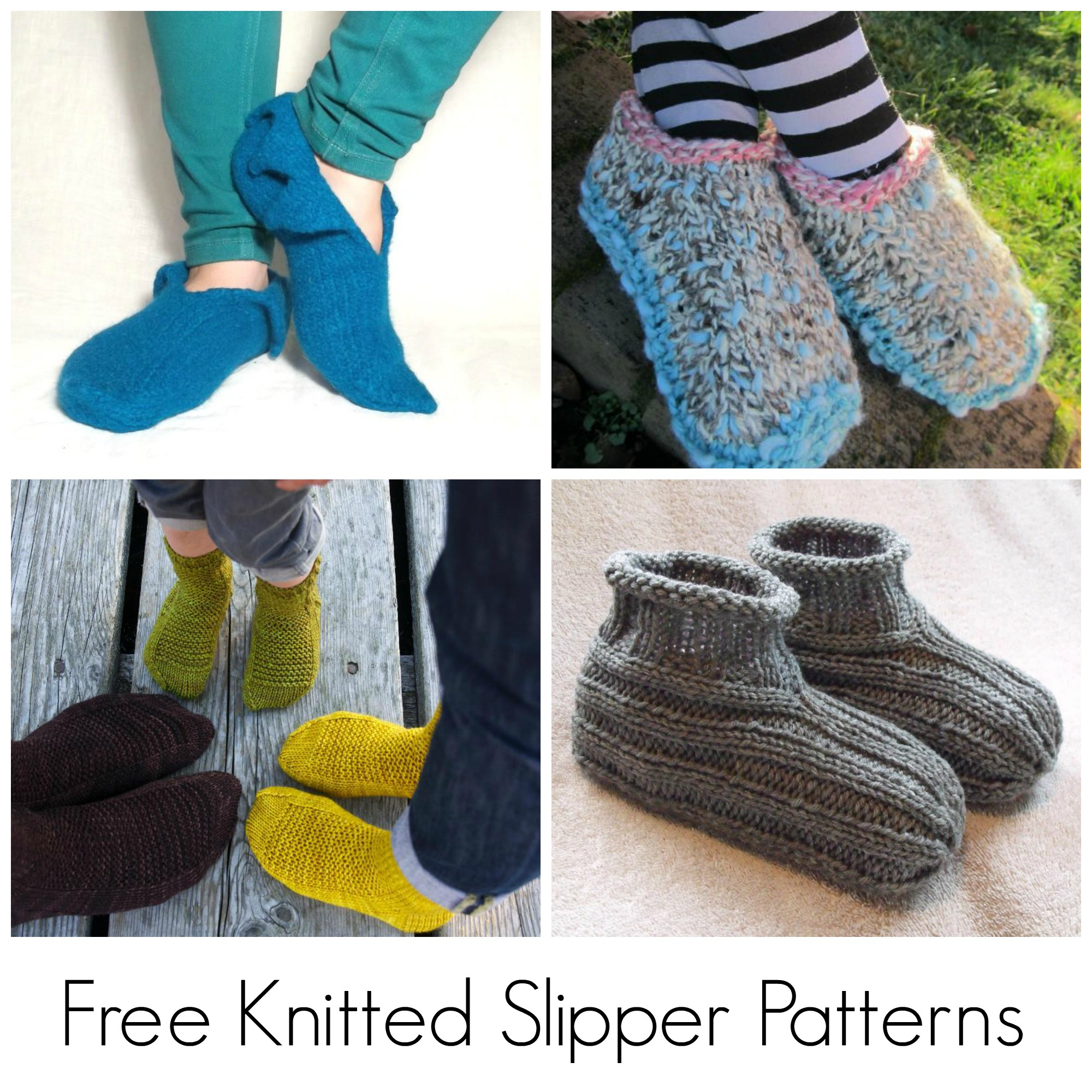 Free Patterns For Knitted Slippers 10 Free Knitted Slipper Patterns