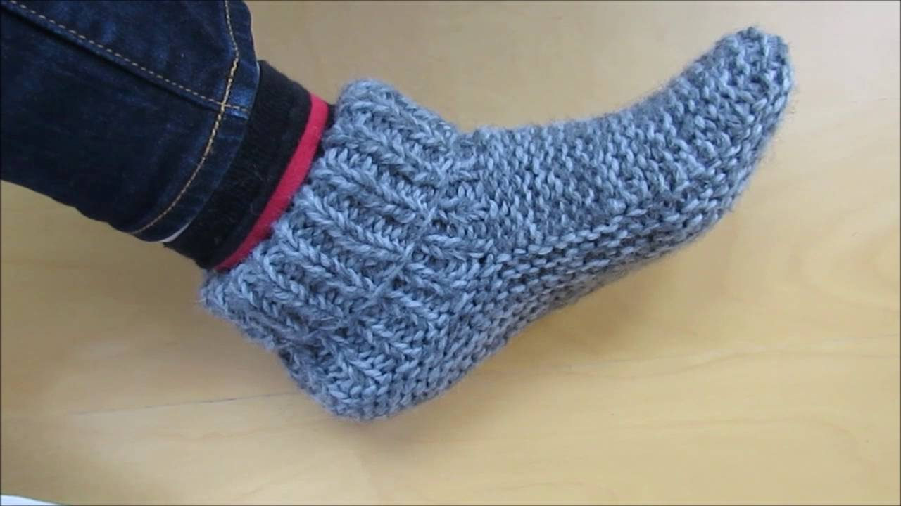 Free Patterns For Knitted Slippers Easy Knitting Patterns For Beginners Slippers Cool And Easy Knitting