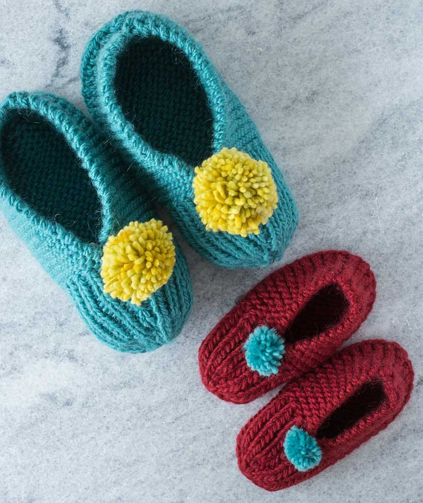 Free Patterns For Knitted Slippers Easy Slipper Knitting Patterns In The Loop Knitting