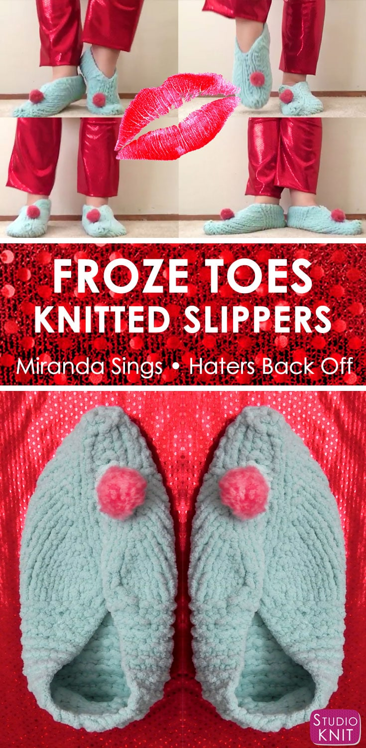 Free Patterns For Knitted Slippers Froze Toes Knitted Slippers Pattern Studio Knit