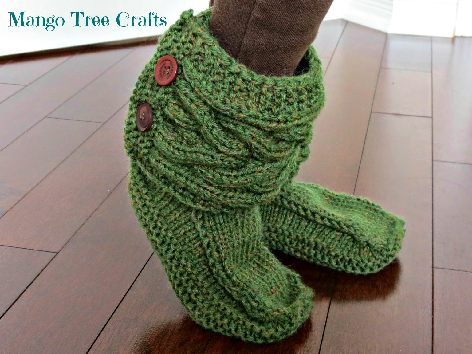 Free Patterns For Knitted Slippers Knitted Slipper Boots