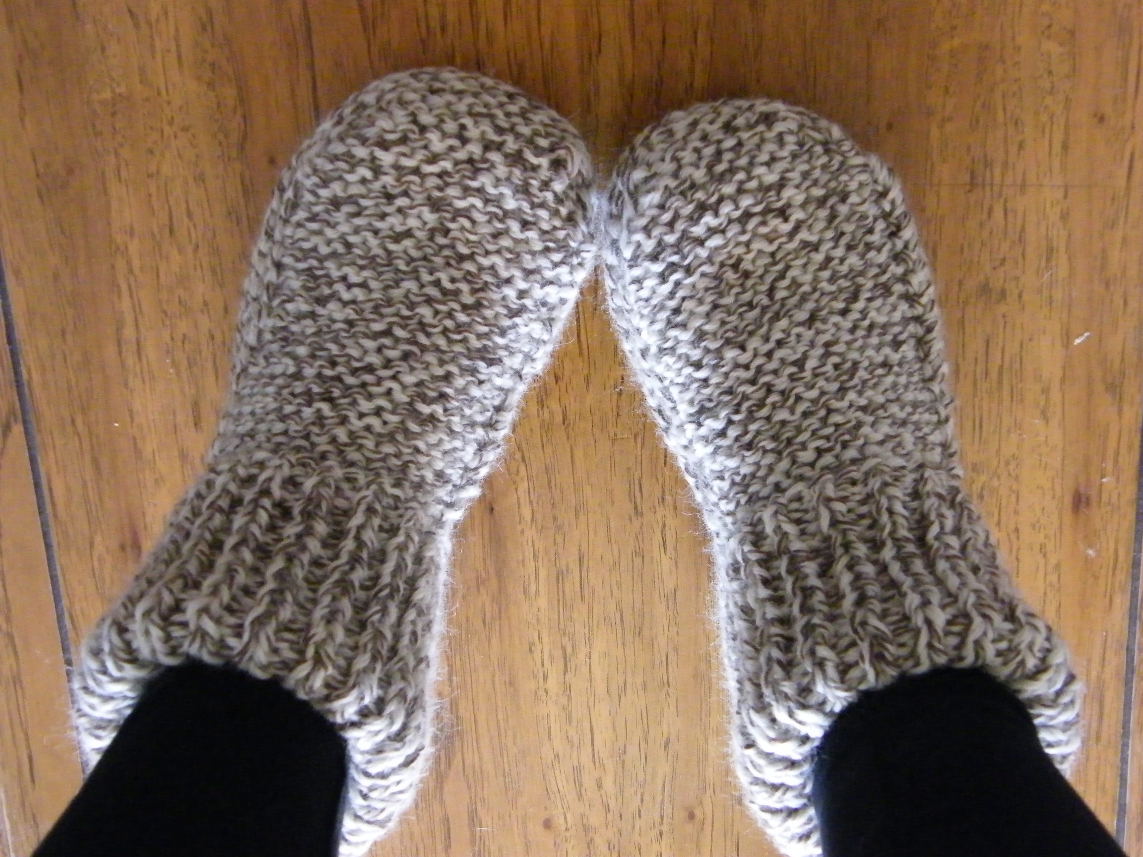 Free Patterns For Knitted Slippers Knitting On The Moon We Had Gold Spoons