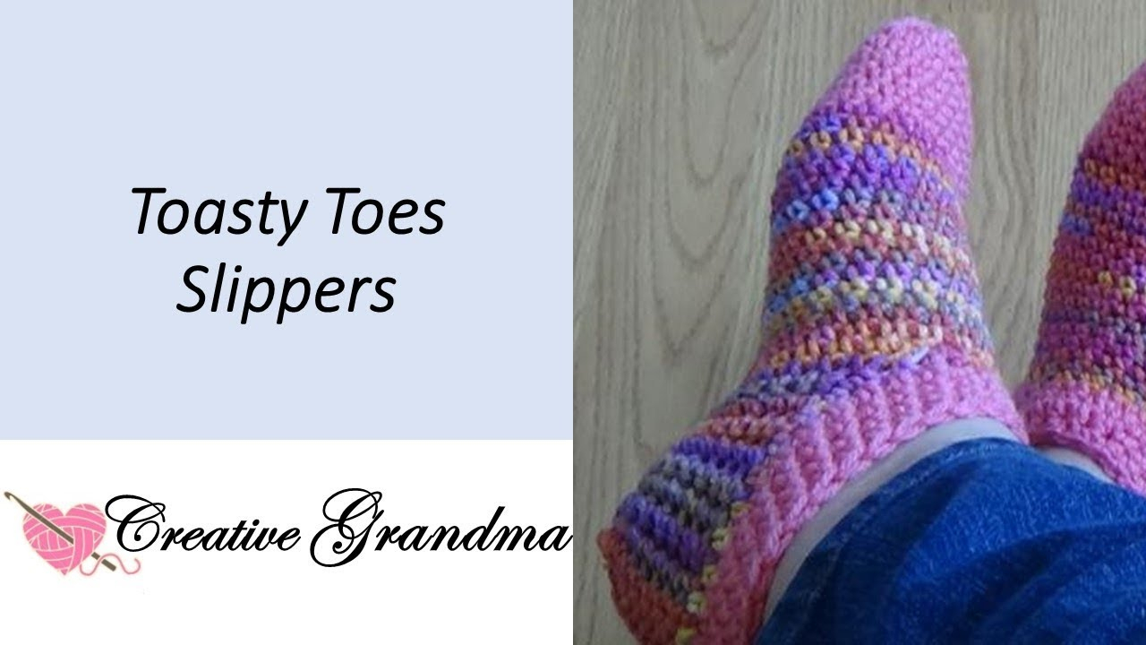 Free Patterns For Knitted Slippers Toasty Toes Slipper Socks Easy Free Pattern At End Of Video