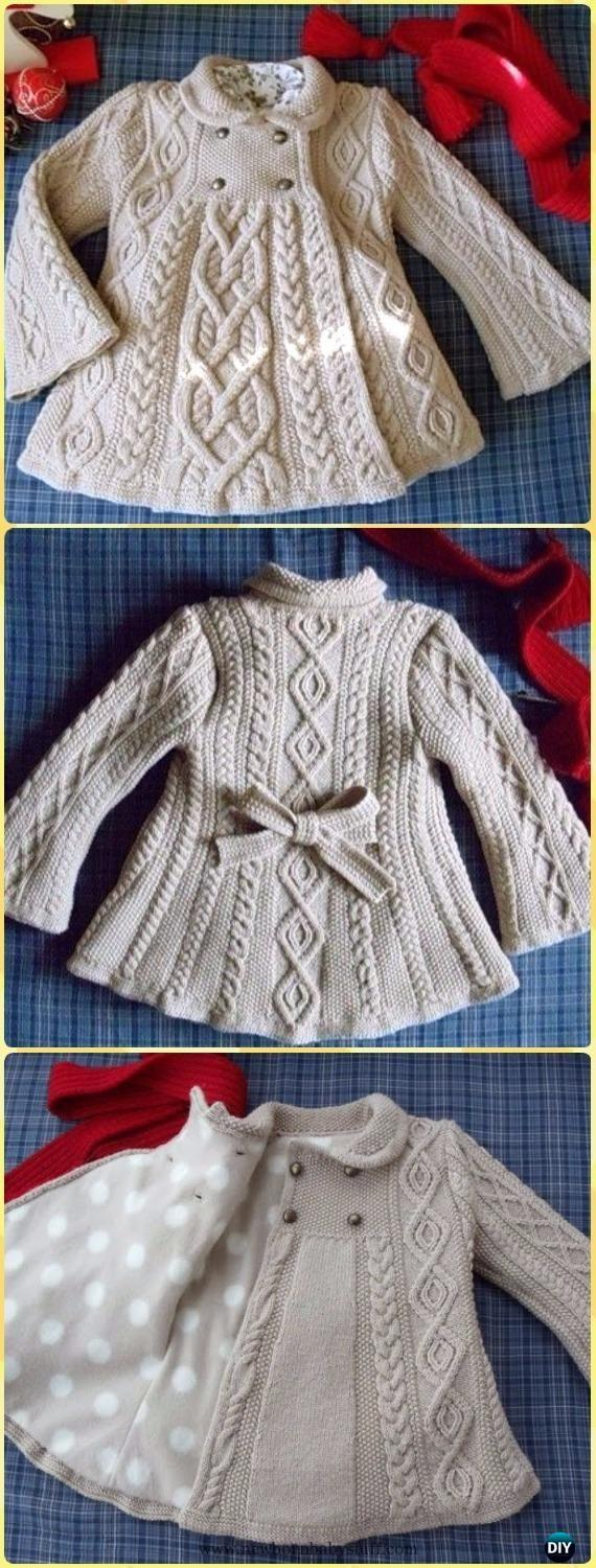 Free Sweater Patterns To Knit Ba Knitting Patterns Cable Knit Elizabeth Coat Free Pattern Knit