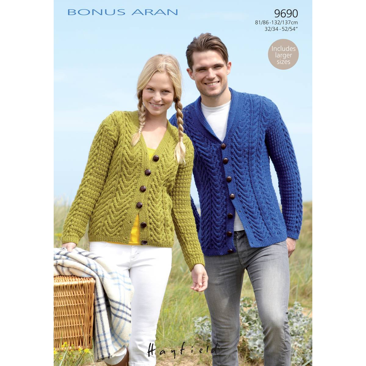Free Sweater Patterns To Knit Free Pattern Hayfield Bonus Aran Cardigans Knitting Pattern Hobcraft