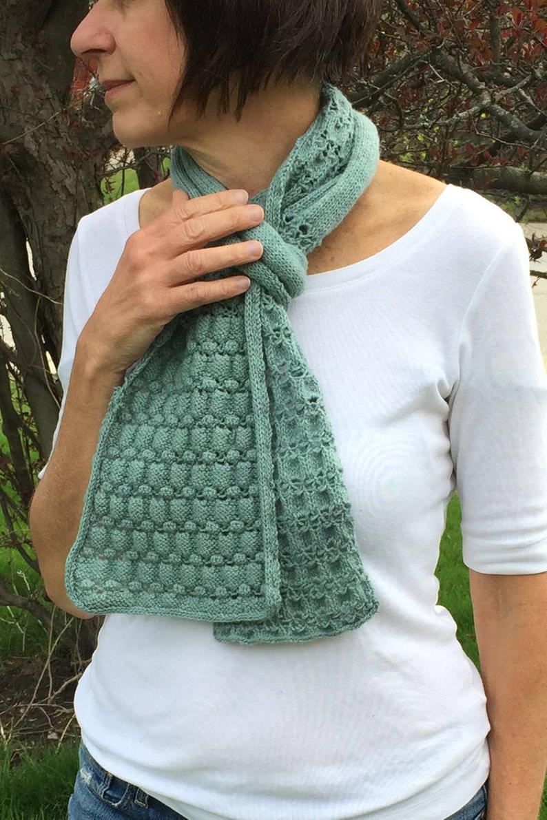 Hand Knit Scarf Pattern Hand Knit Scarf Knitting Pattern Textured Scarf Scarf To Knit Womens Scarf Pattern Stitch Scarf Reversible Scarf Knit Scarf Icord