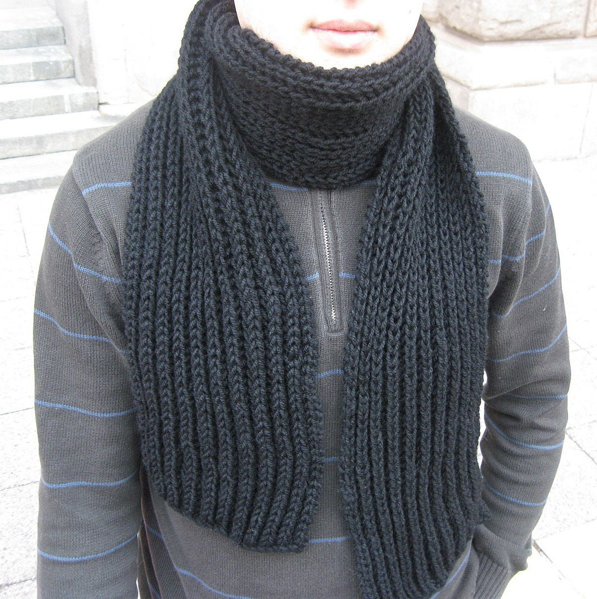 Hand Knit Scarf Pattern Hand Knitted Scarves For Sale On Week Of October