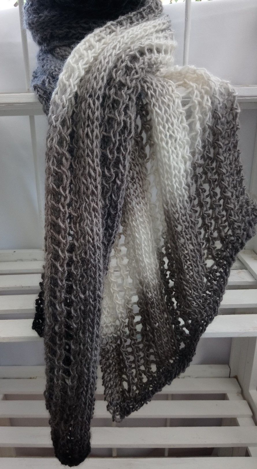 Hand Knit Scarf Pattern Lacy Knitted Scarf