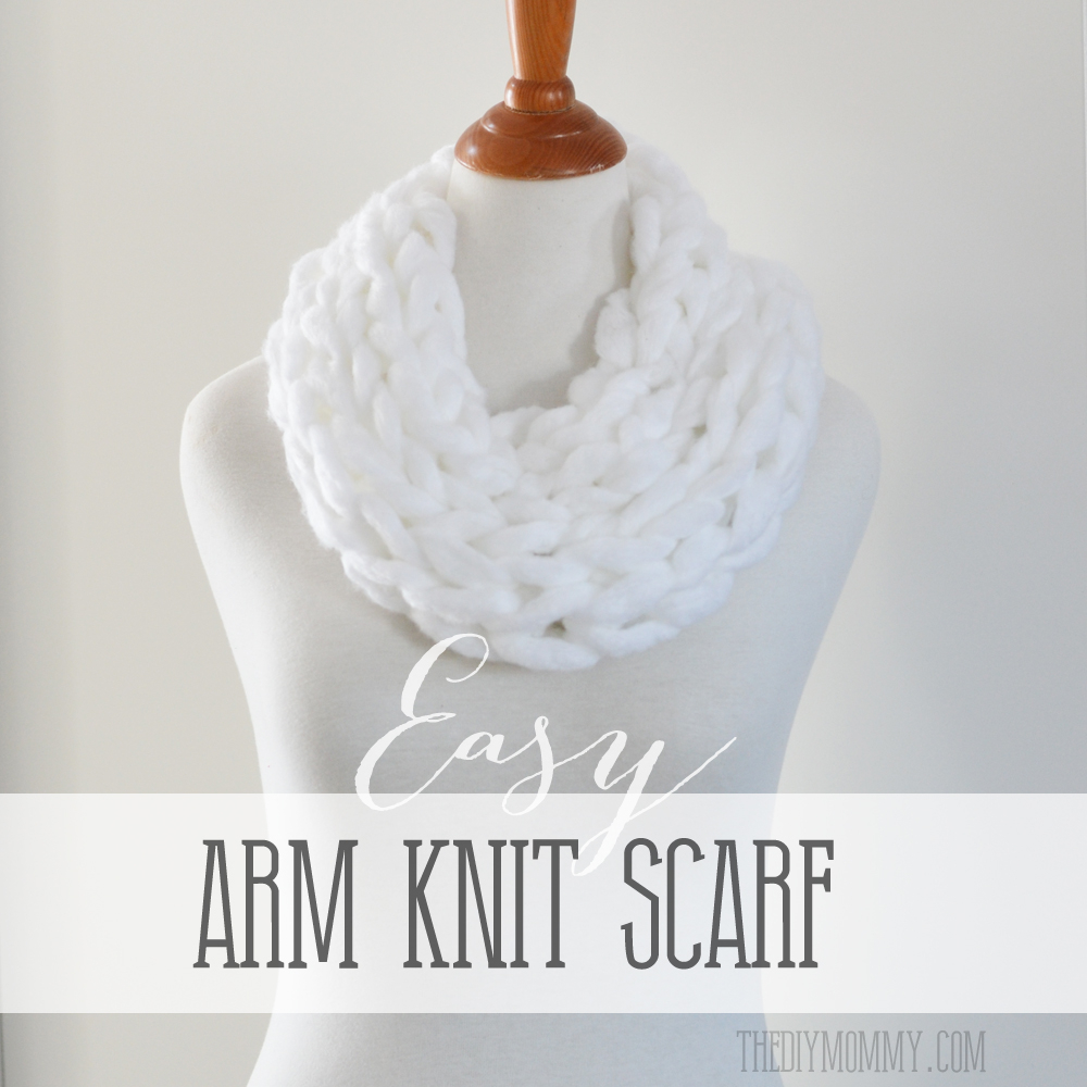 Hand Knit Scarf Pattern Make An Arm Knit Scarf The Diy Mommy